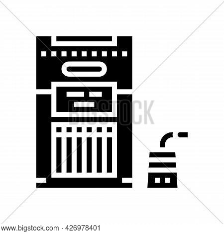 Packaged Tea Glyph Icon Vector. Packaged Tea Sign. Isolated Contour Symbol Black Illustration