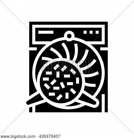 Twisting Tea Glyph Icon Vector. Twisting Tea Sign. Isolated Contour Symbol Black Illustration