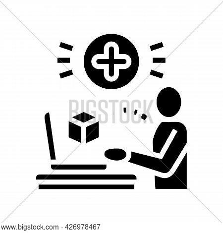 User Social Media Ugc Glyph Icon Vector. User Social Media Ugc Sign. Isolated Contour Symbol Black I