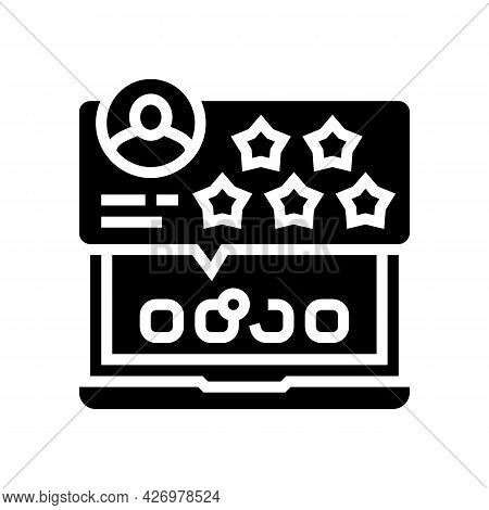 Review And Feedback Of Services Ugc Glyph Icon Vector. Review And Feedback Of Services Ugc Sign. Iso