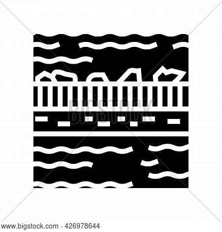 Filtration Water Glyph Icon Vector. Filtration Water Sign. Isolated Contour Symbol Black Illustratio