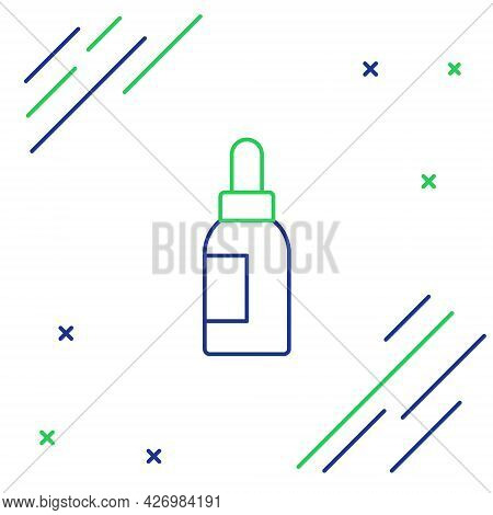 Line Essential Oil Bottle Icon Isolated On White Background. Organic Aromatherapy Essence. Skin Care