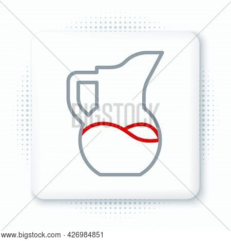 Line Milk Jug Or Pitcher Icon Isolated On White Background. Colorful Outline Concept. Vector