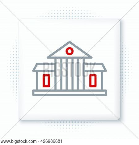 Line White House Icon Isolated On White Background. Washington Dc. Colorful Outline Concept. Vector