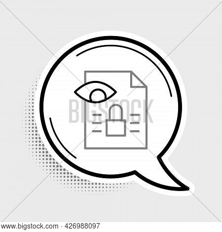 Line Journalistic Investigation Icon Isolated On Grey Background. Financial Crime, Tax Evasion, Mone