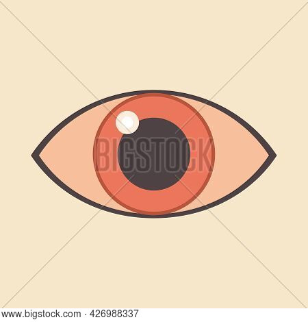 Eye. All-seeing Eye. Print For T-shirts, Decorative Pillows, Pink Design.
