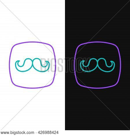Line Barbershop Icon Isolated On White And Black Background. Hairdresser Logo Or Signboard. Colorful