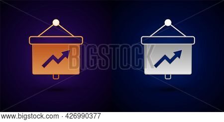 Gold And Silver Presentation Financial Business Board With Graph, Schedule, Chart, Diagram, Infograp