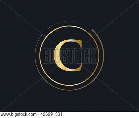 Letter C Logo Design For Business And Company Identity. Creative C Letter With Luxury Concept