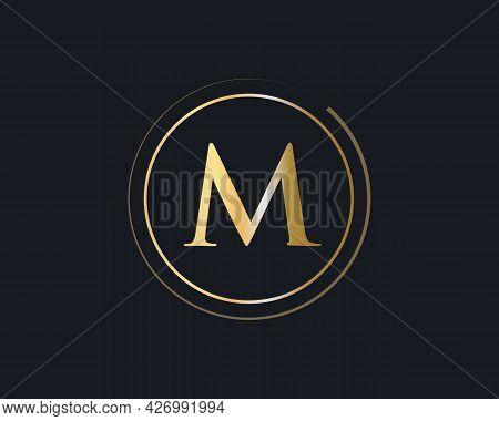 M Logotype For Luxury Branding. Initial M Letter Business Logo Design Vector