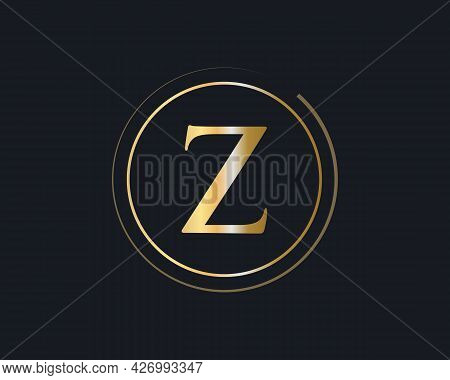 Z Logo Design For Business And Company Identity. Z Letter With Luxury Concept