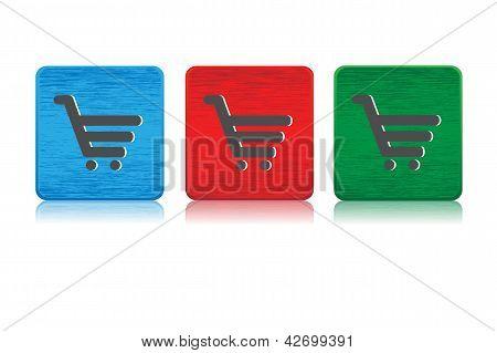 Shopping cart web buttons