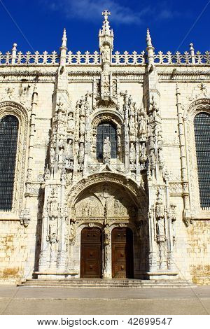 Detail of the Jeronimos MOnastery, Lisbon, Portugal poster