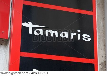 Toulouse , Occitanie France  - 06 25 2021 : Tamaris Sign Bran And Logo Text Of Footwear Store Compan