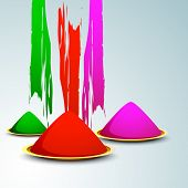 Indian colorful festival Holi celebration background with colors. EPS 10. poster