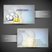 Abstract professional and designer business card template or visiting card set. EPS 10. poster