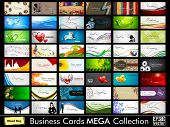 Abstract professional and designer business card template or visiting card set poster