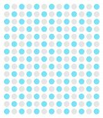 turquoise and grey airbrushed dots on a white background poster
