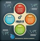 Presentation Template with four options for infographics, web designs, brochures poster