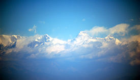 himalayas suspended in sky