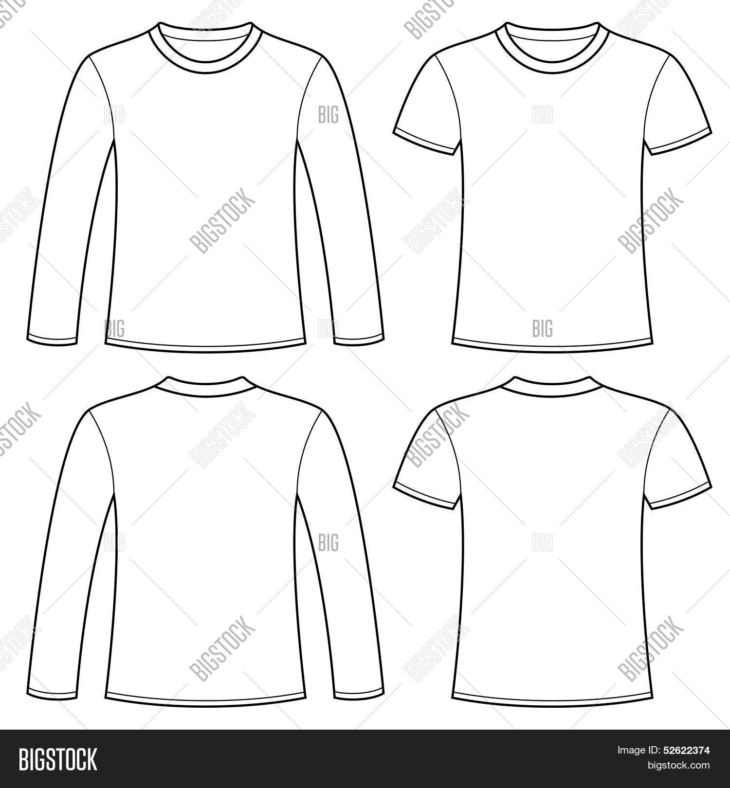 Long sleeved t shirt vector photo free trial bigstock long sleeved t shirt and t shirt template maxwellsz