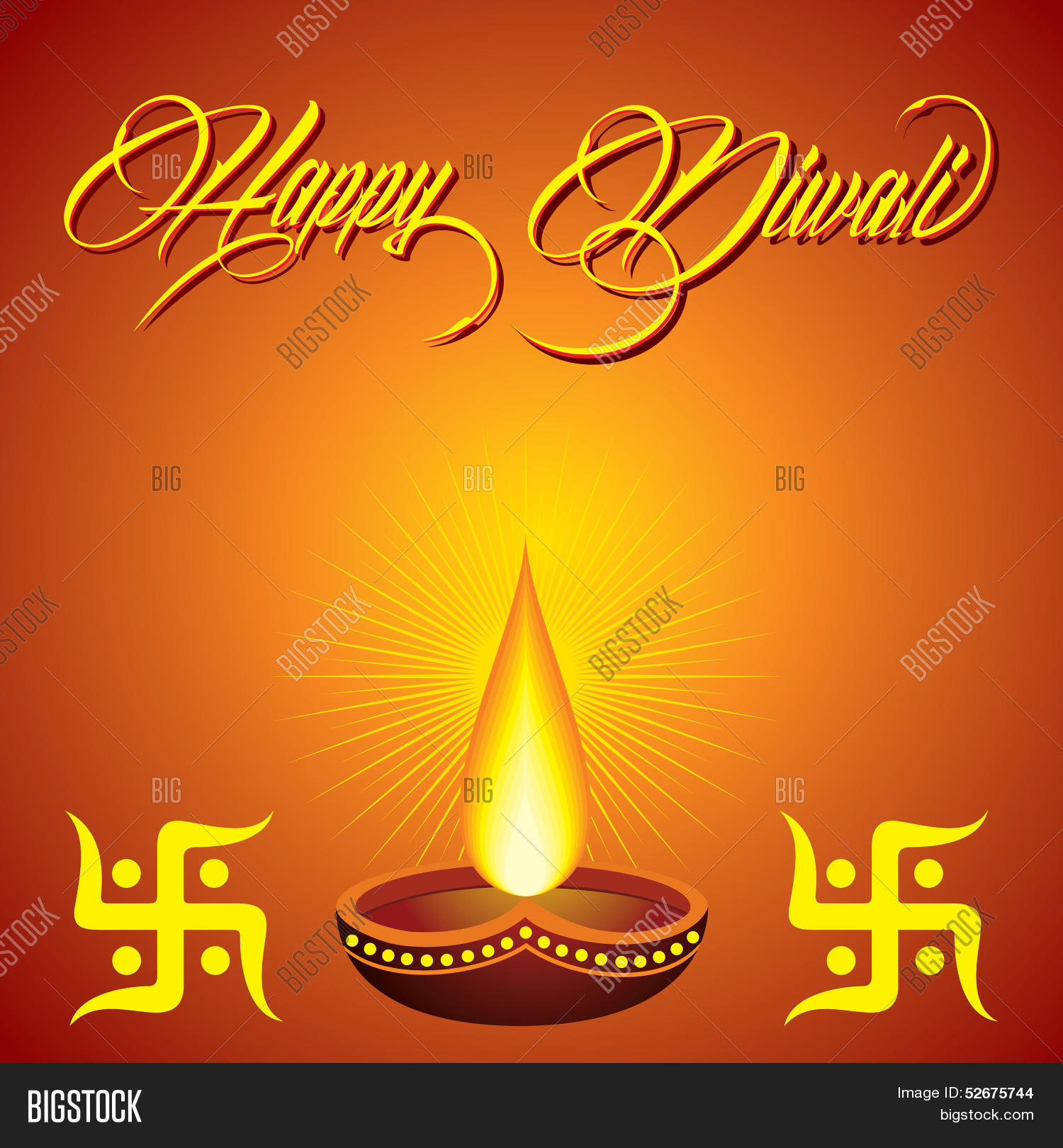 Diwali Greeting Vector Photo Free Trial Bigstock