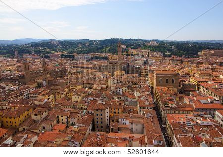 View Over Firenze With Towers