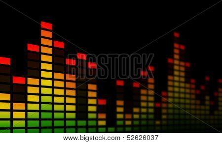 Music Equalizer Bars - Close-up