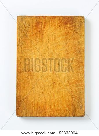 overview of wooden cutting board