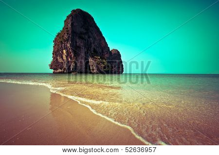 Tropical beach landscape. Thailand