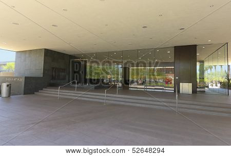 A Phoenix Art Museum North Entrance Shot