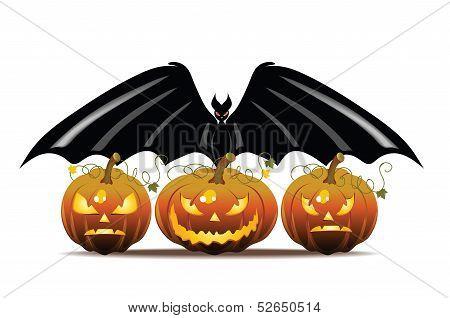 Pumpkin and Bat
