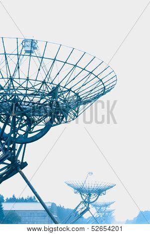 Radio Telescopes  In Westerbork, The Netherlands