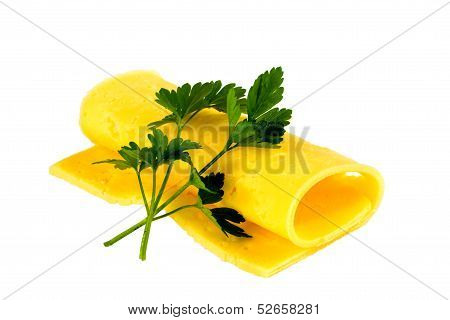 cheese with parsley