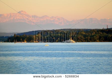 Lake Constance In Evening