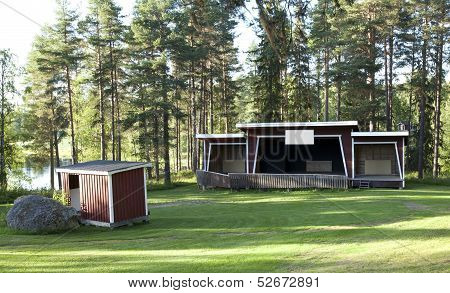 A simpler stage outdoor.