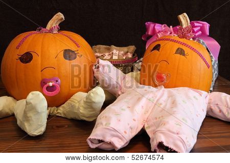 Pumpkin Babies In Onesies