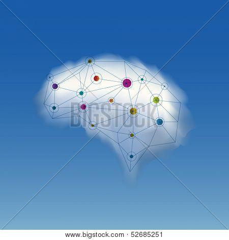 Brain cloud, eps10 vector