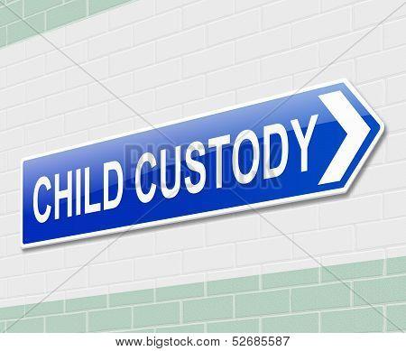 Child Custody Concept.