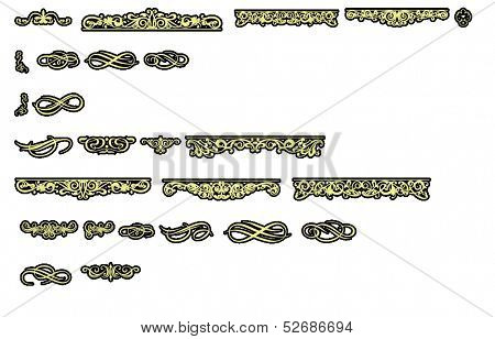 Goldleaf Clipart Corners Rules Ornaments and Embellishments