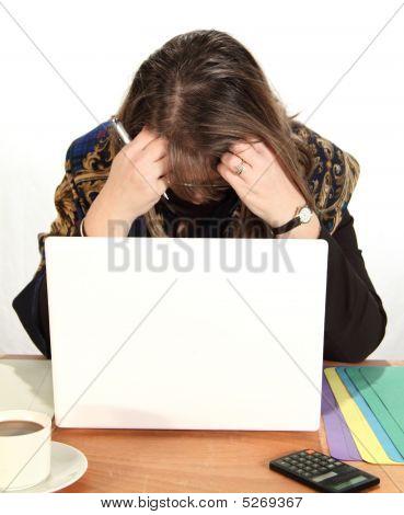 Empresária desanimada