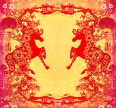 Year of Horse graphic design abstract background , raster poster