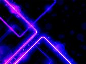 Vector - Blue Purple Lines Background Neon Laser poster