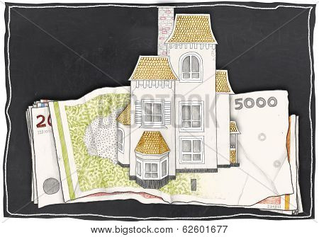 House Stands On Money