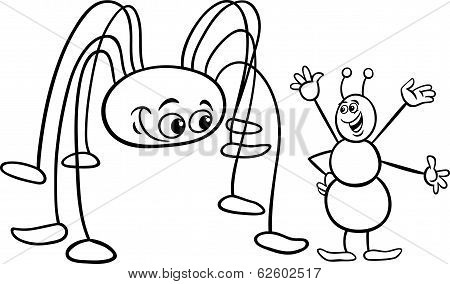 Ant And Opilion Coloring Page