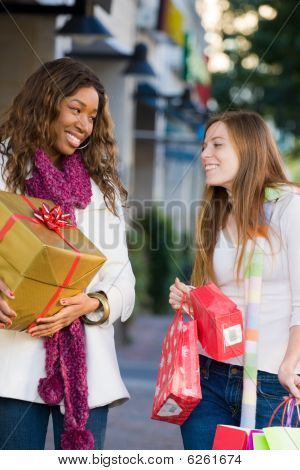 Two Women Friends Shopping