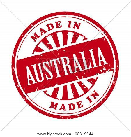 Made In Australia Grunge Rubber Stamp