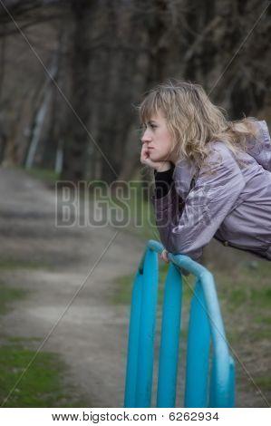 Lonely Girl Longs In Park