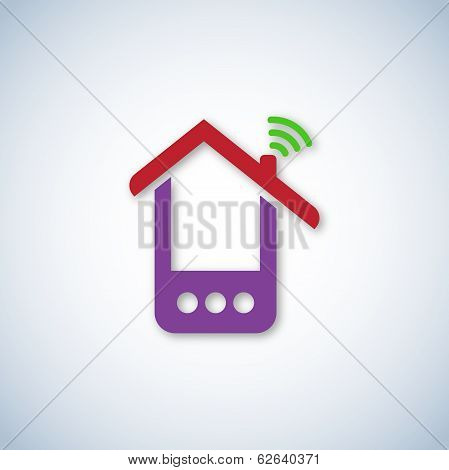 Purple phone house