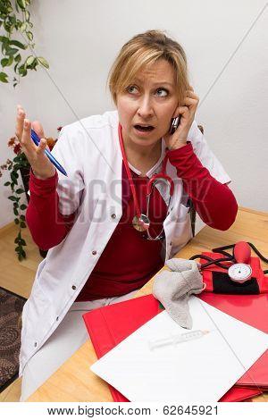 Overwhelmed Nurse